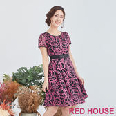 Red House 蕾赫斯-圓圈透膚洋裝(共2色)