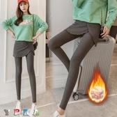 【YPRA】假兩件内搭褲 女褲子 加絨 加厚 假兩件 打底裙 包臀裙