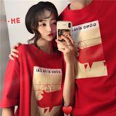 情侶T純棉2019春裝新款網紅豬豬寬鬆短袖T恤女情侶裝上衣服qlz夏裝百搭