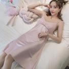 吊帶睡衣 睡裙女士夏季冰絲吊帶性感薄款絲綢夏天韓版可愛甜美家居服公主風