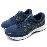 《7+1童鞋》男段 ASICS MEN 亞瑟士 GEL-CONTEND 6 輕量透氣 運動鞋 慢跑鞋 機能鞋 5223 藍色