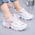 兒童運動鞋女童老爹鞋2020春秋新款中大童小學生白色透氣網面童鞋 Cocoa