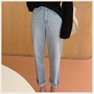 。Styleon。正韓。隨興休閒刷色丹寧直筒褲。韓國連線。韓國空運。0513。