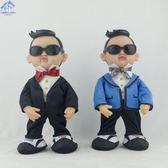 兒童毛絨玩具江南style鳥叔創意搞怪會跳舞唱歌電動音樂公仔玩偶