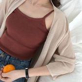 2018春夏新款正韓修身顯瘦吊帶背心百搭休閒針織打底衫上衣女學生三角衣櫥