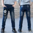 童裝男童牛仔褲春秋新款春裝兒童韓版中大童洋氣小腳褲子潮童秒殺價 七色堇