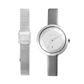 【Relax Time】Changing變幻系列菱格時尚腕錶套組-質感灰/RT-90-1/台灣總代理公司貨享一年保固