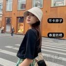 黑色漁夫帽女夏季遮陽防曬帽子春秋日系水桶帽百搭韓版潮薄款盆帽 衣櫥秘密