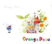 壁貼【橘果設計】夢幻城堡 DIY組合壁貼 牆貼 壁紙 壁貼 室內設計 裝潢 壁貼