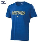 MIZUNO 童裝 短袖 大童 T恤 合身版型 吸汗快乾 淺藍【運動世界】32TA110616