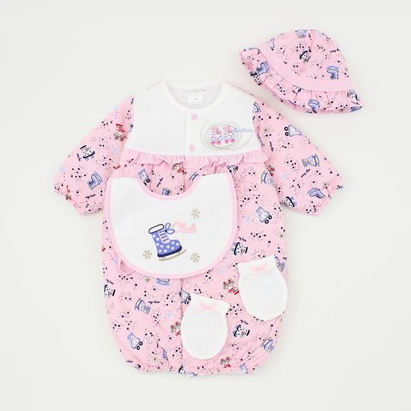 【愛的世界】純棉鋪棉兩用嬰衣禮盒/3~6個月-台灣製----禮盒推薦