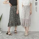 滿版花朵層次拼接鬆緊長裙-BAi白媽媽【310218】