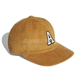 adidas 帽子 Samstag Vintage Ball Cap 咖啡 白 男女款 老帽 棒球帽 燈心絨 運動休閒 【ACS】 GD4441