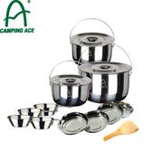 【CAMPING ACE 野樂 露營提鍋組】ARC-159/登山/露營/折疊碗/套鍋/炊具