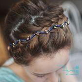【Hera赫拉】彩鑽珠珠波浪形頭箍/髮箍(四色)