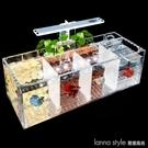 斗魚缸壓克力隔離小魚缸免換水水泵過濾斗魚缸 全館新品85折 YTL