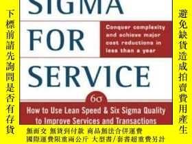 二手書博民逛書店Lean罕見Six Sigma For Service : Ho