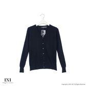 【INI】四季舒適、輕薄舒適織紋針織外套.黑色