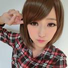 可愛女孩斜瀏海短髮【MB007】高仿真超...