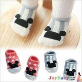 童襪嬰兒襪子寶寶防滑襪-可愛老鼠圓點條紋船襪短襪-JoyBaby