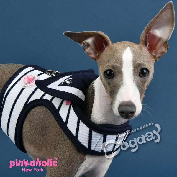 紐約《Pinkaholic粉紅上癮》CoCo海洋胸背心[B款]L號+拉繩組合 透氣柔軟時尚胸背心 魔鬼氈快穿