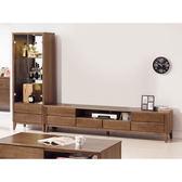 【森可家居】米雅淺胡桃9.1尺客廳L櫃 8SB203-3 電視展示櫃 木紋質感 日式無印風