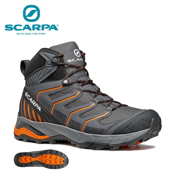 【速捷戶外】義大利 SCARPA MAVERICK MID 63090-200 男中筒輕量化GTX防水登山鞋 鐵灰/橘