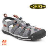 【KEEN】男款CLEARWATER CNX輕量化戶外護趾涼鞋-灰色(1018497)全方位跑步概念館
