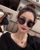 網紅街拍2019新款同款眼鏡貓眼時尚太陽鏡女士韓版大框墨鏡潮
