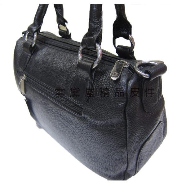 ~雪黛屋~ITALI DUCK 水餃包中容量主袋+外袋共三層主袋內二隔層100%進口牛皮革台灣製ID8271