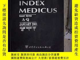 二手書博民逛書店INDEX罕見MEDICUS 2001 JAN 指數醫學2001