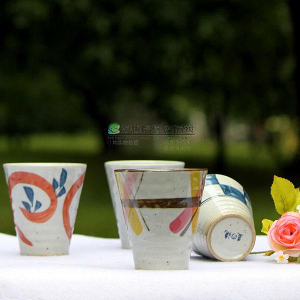 陶瓷 餐具 日式 四季蘿彩 古雅 4入 套裝  杯子