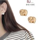 素簡手作《T025》韓國耳不對稱耳環夾式耳環磁鐵耳環