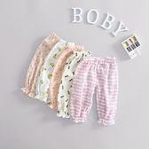 618好康鉅惠夏季薄款棉麻女嬰幼兒夏裝透氣長褲潮寶寶褲