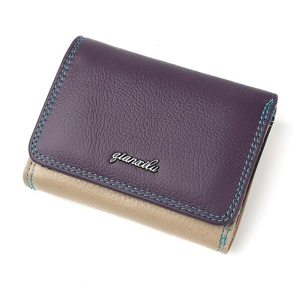 搭扣卡包女士短款錢包 潮流女生短夾 時尚百搭多功能零錢包 復古簡約小錢包 女士短款錢夾皮夾
