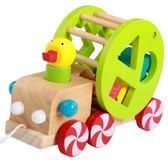 木制质动物拖拉玩具木制兒童嬰兒學步拖拉玩具木質助步車 igo全館免運