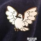 """""""鴿了!""""仿琺瑯金屬徽章—高嶺之光原創設計—趣味禮品胸針 夢幻小鎮"""