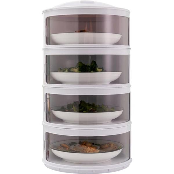飯菜保溫菜罩家用多層滑門防塵罩防蒼蠅蓋菜餐桌食物罩剩菜神器XI 青木鋪子