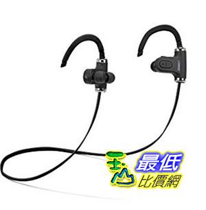 [美國直購] Fisher Wireless Sports Earphone, Sweatproof, Form Fitting Clip to Ear, Built-In Microphone Black 耳機