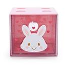 小禮堂 許願兔 方形單抽收納盒 透明抽屜盒 堆疊收納盒 積木盒 飾品盒 (粉 果凍文具) 4550337-61339