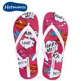 夾腳涼鞋hotmarzz卡通圖案人字拖鞋平底防滑女涼拖外穿休閑沙灘鞋海邊夏/E家人