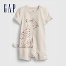 Gap嬰兒 純棉立體動物短袖包屁衣 68...