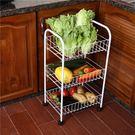 正韓廚房收納置物架落地水果蔬菜架子帶輪jy地水果蔬菜架子帶輪【快速出貨中秋節八折】