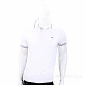 ETRO 飛馬刺繡白色棉質POLO衫 1830223-20