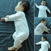 嬰兒連體衣服純棉新生幼兒春秋裝哈衣初生秋冬季女0歲1男寶寶睡衣