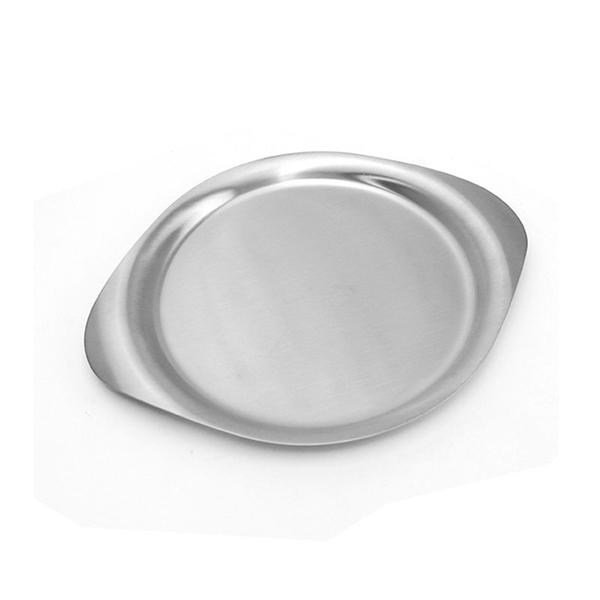 日本 Sori Yanagi Stainless Steel Kitchen Tools Plate 柳宗理 不鏽鋼廚具系列 圓形餐盤(大尺寸)
