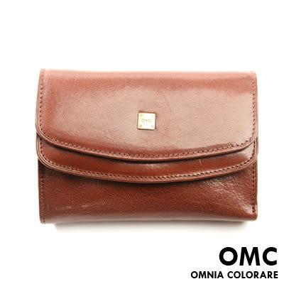 OMC - 原皮魅力真皮款多卡零錢袋短夾