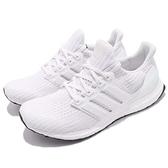 adidas 慢跑鞋 Ultra Boost 4.0 白 全白 運動鞋 頂級緩震舒適 運動鞋 男鞋【ACS】 BB6168