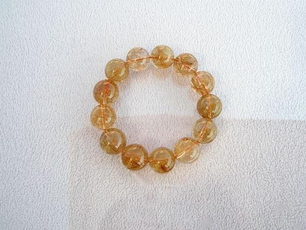 【歡喜心珠寶】【天然巴西維納斯紅鈦晶圓珠18mm手鍊】13顆.重111.6g「附保証書」招財寶石
