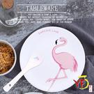 【堯峰陶瓷】粉紅時尚新風暴 紅鶴火烈鳥 圓盤單入 | 野餐擺盤適用 | 贈品首選 現貨